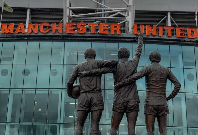 Statues at Old Trafford