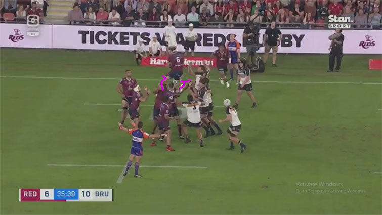 reds lineout vs brumbies