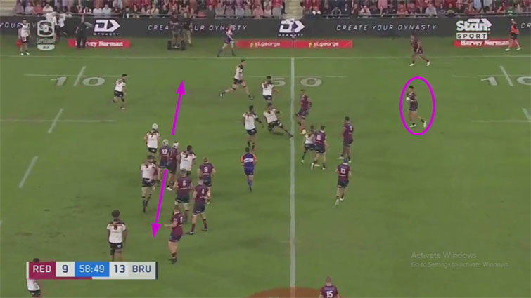 reds attacking play from lineout