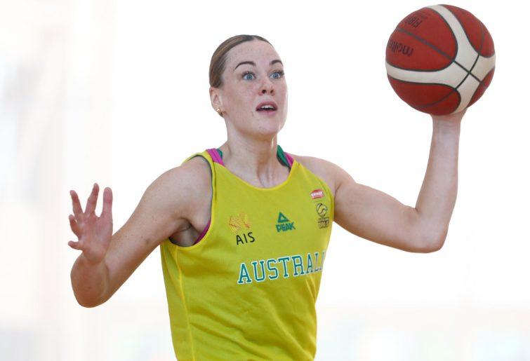 Tess Madgen holds the ball