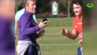 Mischievous Craig Bellamy swipes the Cheese's phone during training