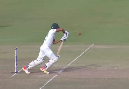 The strangest hit wicket dismissal in professional cricket history