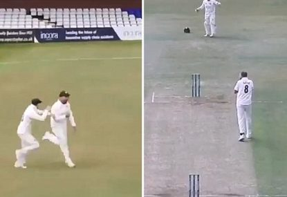 Stuart Broad reacts accordingly to unbelievable County Championship catch