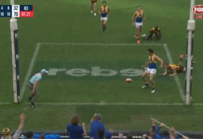 Jack Petruccelle produces one of the messiest dribble goal attempts you're likely to see