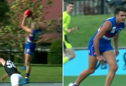 Bulldogs VFL star flies high; but number one draft pick faces stint on sidelines
