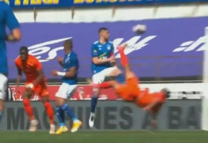 French striker produces amazing bicycle kick goal in Ligue 1 win