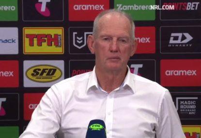 Wayne Bennett slams the contradictory enforcement of the NRL's crackdown