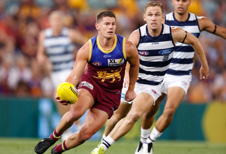Dayne Zorko of the Lions in action