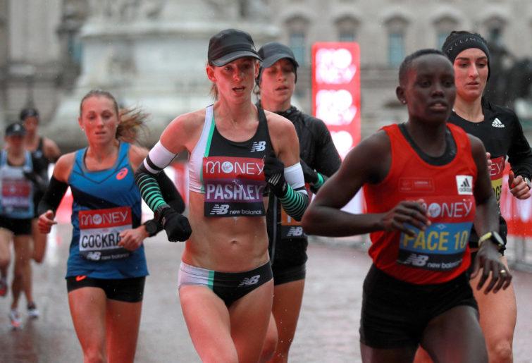 Ellie Pashley runs at the London Marathon.