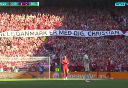 WATCH: Belgium and Denmark players pause game for Eriksen tribute
