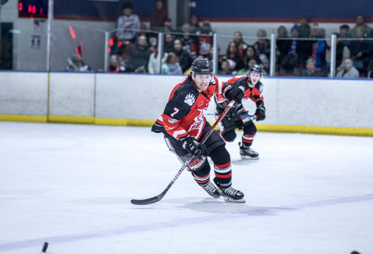 Sydney Bears players take to the ice in the Australian Ice Hockey League.