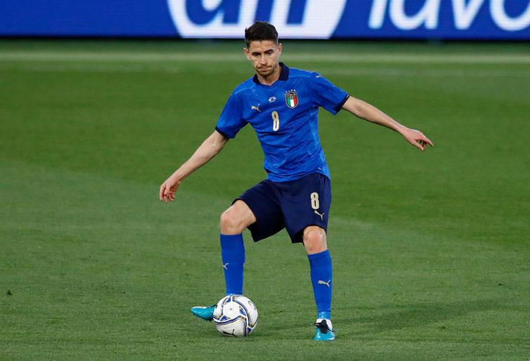 Jorginho of Italy controls the ball