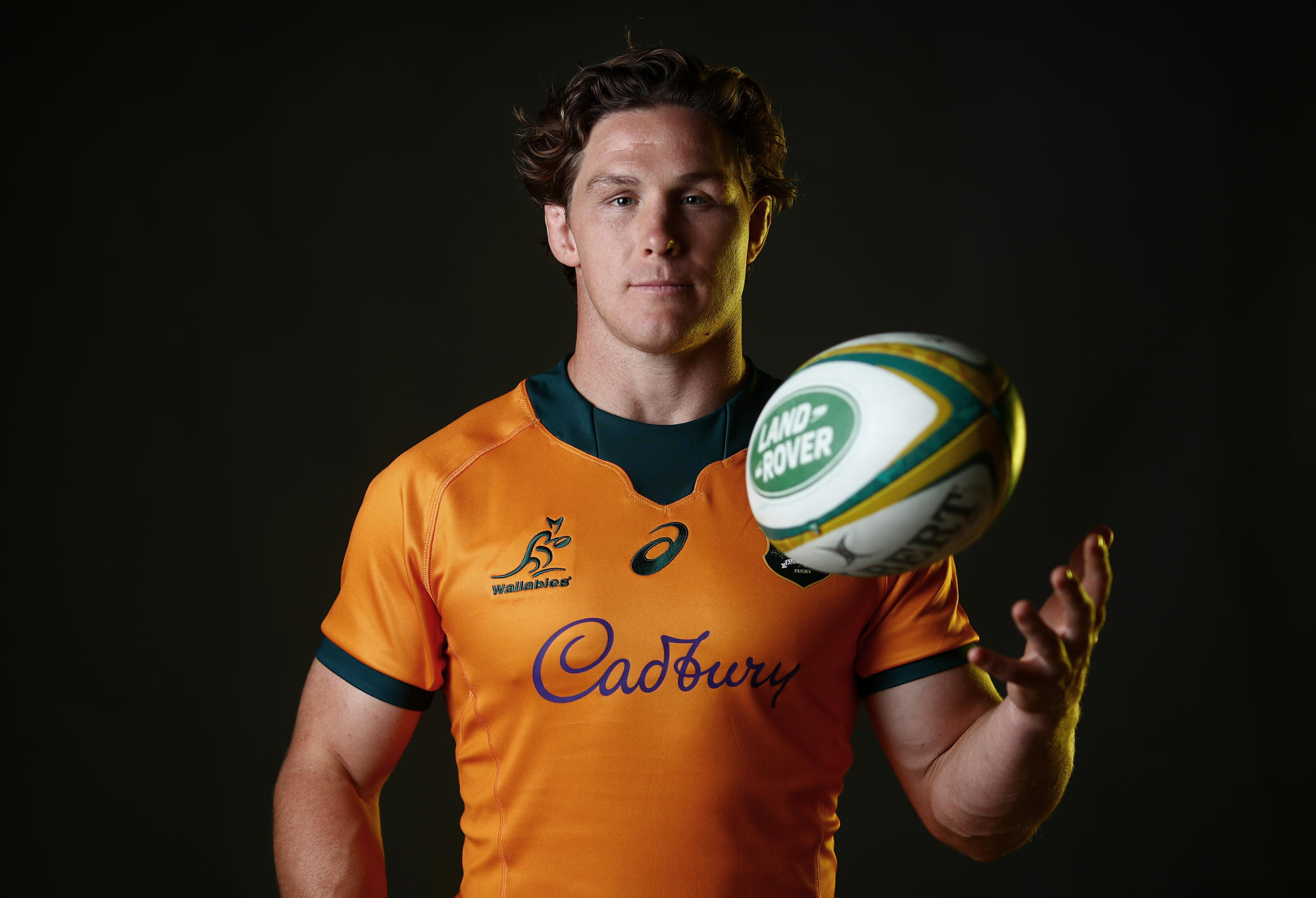 Michael Hooper poses during the Australian Wallabies player portrait