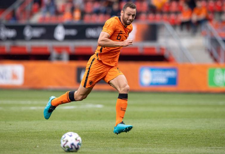Stefan de vrij of Netherlands Controls the ball