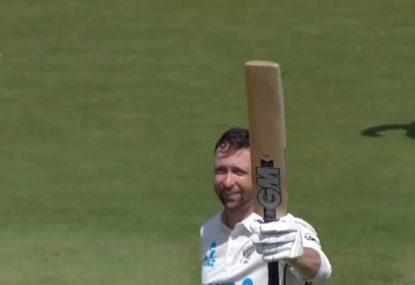 Kiwi debutant sensationally notches Test double century with a SIX!
