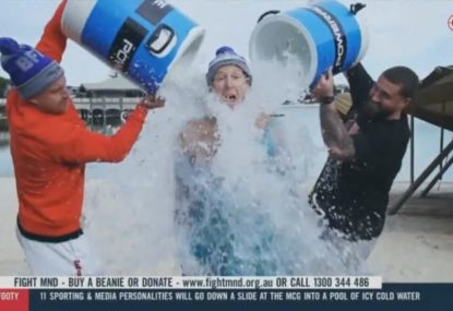 Craig Bellamy still does his bit for The Big Freeze on location