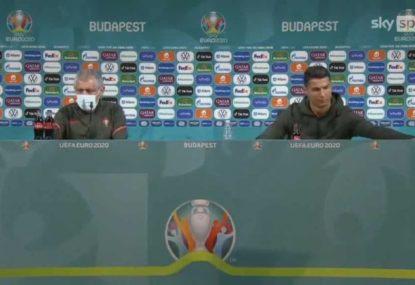 Cristiano Ronaldo makes costly press conference stance