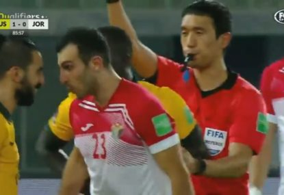 An ugly moment overshadows Socceroos win over Jordan