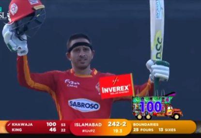 Vintage Usman Khawaja smashes 105 off 56 balls in Pakistan Super League
