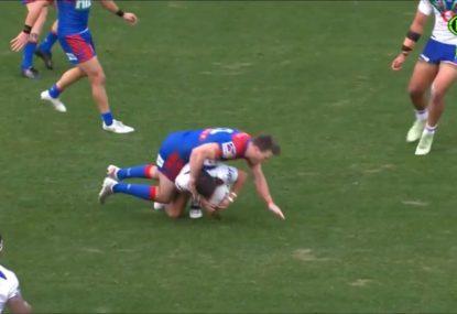 More sin-bin controversy as Kodi Nikorima's slip costs Fitzgibbon ten minutes