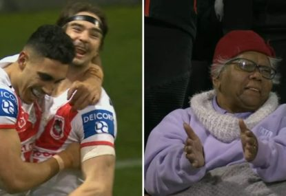 Special family moment as Tyrell Sloan celebrates milestone in NRL debut