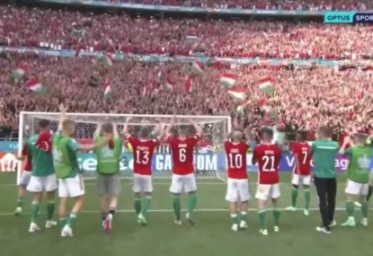 Pandemonium as all of Hungary celebrate unexpected draw with world champs