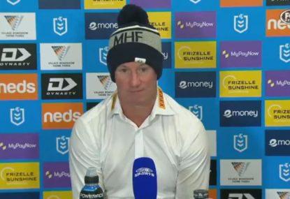 Justin Holbrook's brutal assessment of his side's defence after second-half collapse