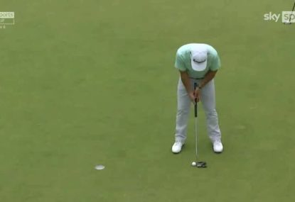 US Golfer has a forgettable moment as he repeatedly can't find the cup from five feet