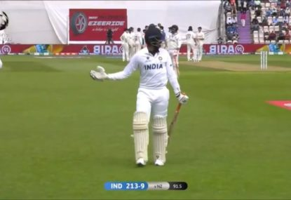 Bumrah so relieved to get out of facing Kyle Jamieson he doesn't even bother reviewing