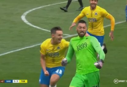 English National League goalkeeper scores sensational stoppage-time equaliser