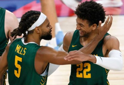 Boomers one step closer to ending medal drought
