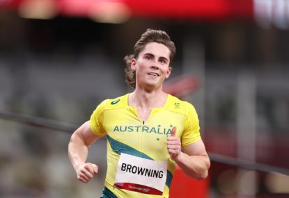 What time is Rohan Browning running in the 100 metres sprint at Tokyo Olympics tonight?