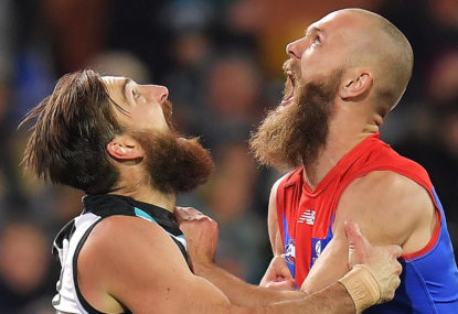 The AFL's top four go to war in Round 23