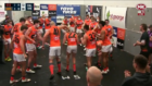 Giants teammates spring a cheeky surprise on Josh Kelly after a win in his milestone game