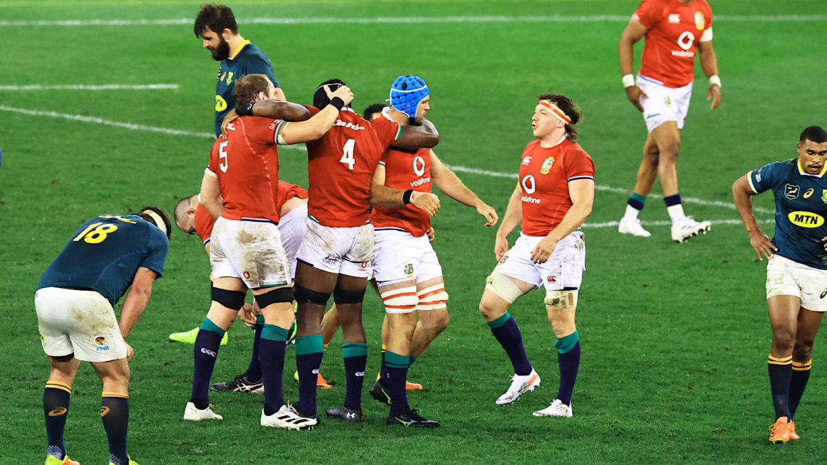 Lions roar back to down Springboks in first Test