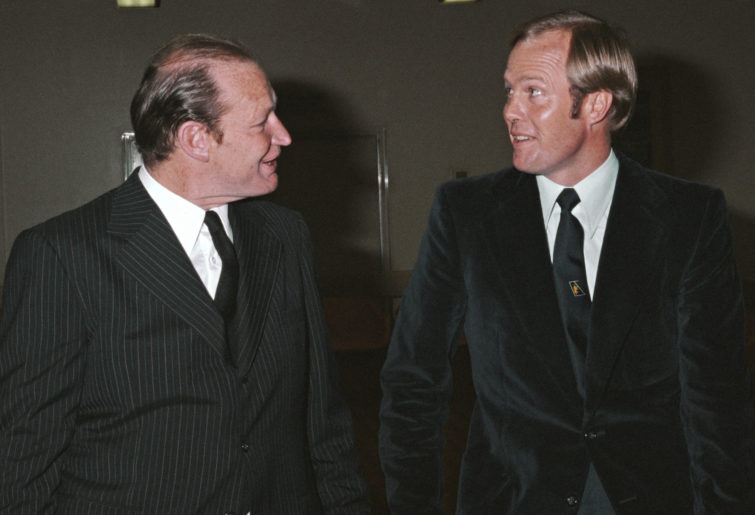 Kerry Packer and Tony Greig