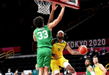 'Staying in the trenches together': Patty Mills carries Boomers home in gritty Nigeria battle