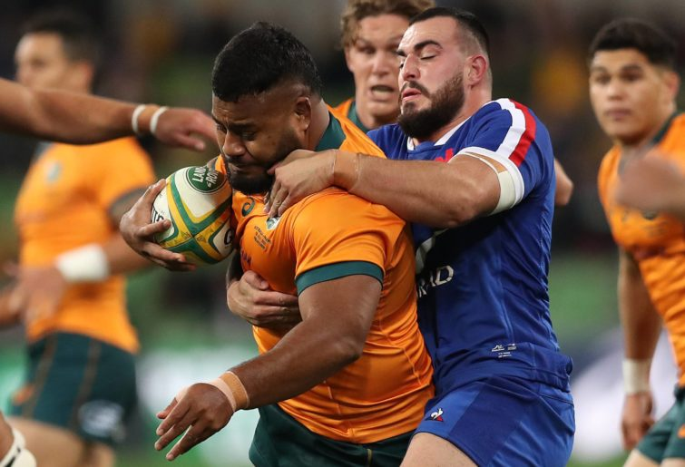 Taniela Tupou after starting for the Wallabies against France