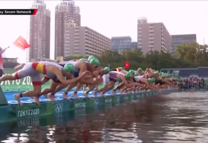 Olympics triathlon forced to restart for a truly farcical reason
