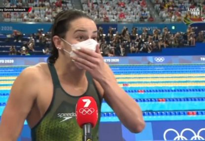 WATCH: Kaylee McKeown drops an F-bomb after winning gold for Australia