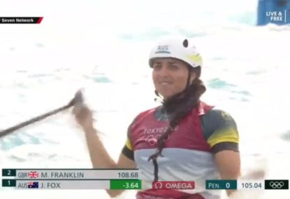 WATCH: Jess Fox's Dad breaks down in commentary after his daughter wins gold