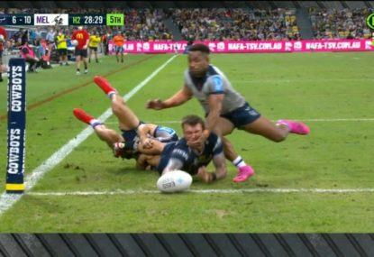 Fox League panellists tee-off over two major refereeing blunders in Melbourne's win over the Cowboys