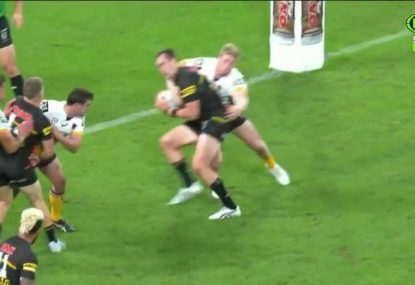 Panthers lose their skipper inside the first 10 minutes after being concussed by a high shot
