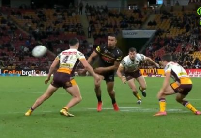 Stephen Crichton produces one of the flick passes of the year to set up a try