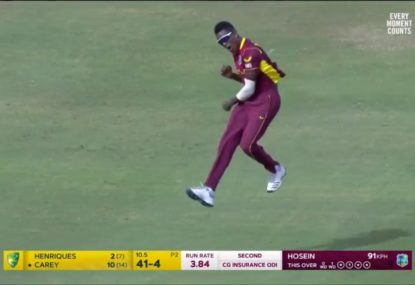 West Indies spinner bamboozles as Australia collapse in second ODI