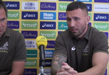 LISTEN to what Quade Cooper had to say after being welcomed back to the Wallabies