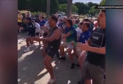 Emotional scenes as Warriors give RTS a farewell haka