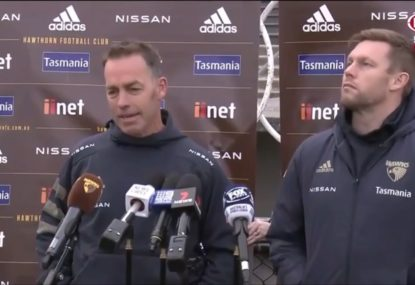 Alastair Clarkson gives his reasons on why he won't be at Hawthorn next year