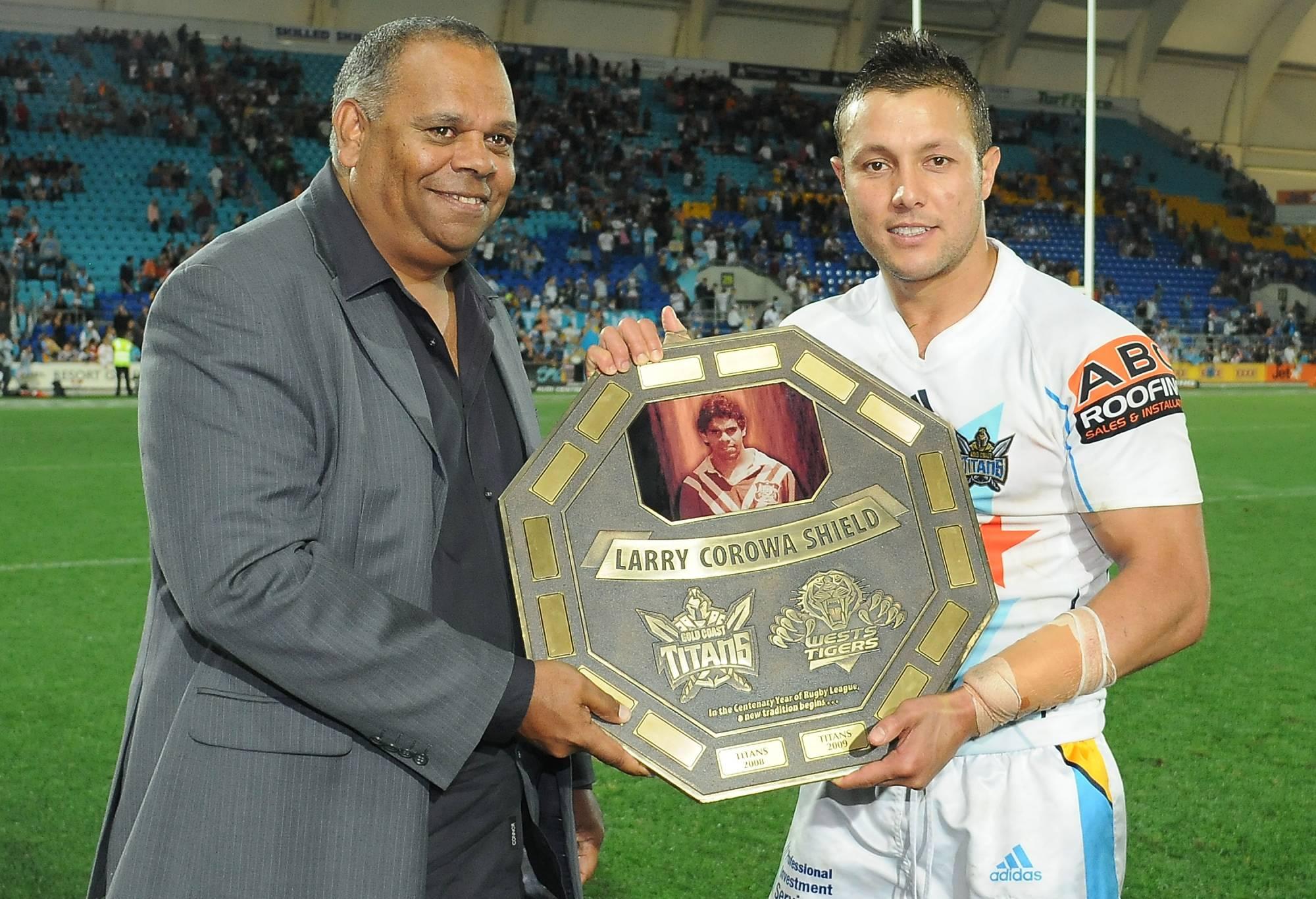 Larry Corowa with Scott Prince
