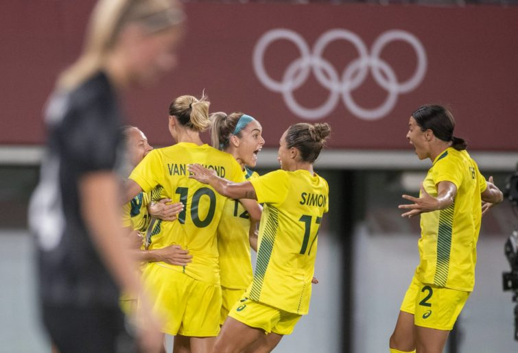 Matildas score a goal against New Zealand